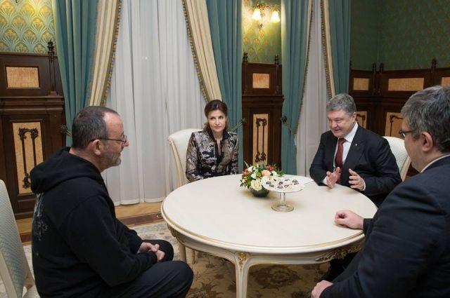 Жан Рено во время встречи с Порошенко поделился впечатлениями об Украине