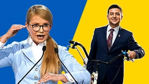 Тимошенко и Зеленский погрязли в склоках: шоумен креативно ответил «леди Ю», обозвавшую его «борщом с Чебурашкой»