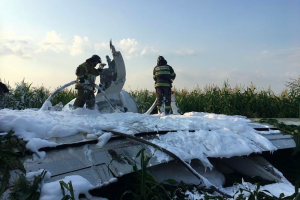 Самолет по пути в Крым рухнул на кукурузное поле под Москвой, много пострадавших — подробности
