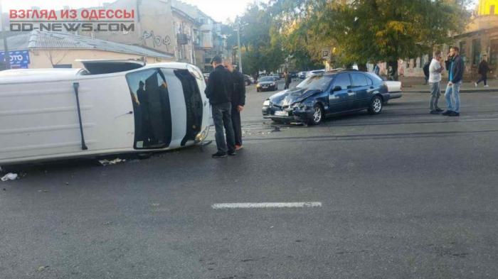В Одессе произошел переворот автомобиля