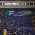 Кадры акции ультрас Украины на матче «Шахтер» — «Аталанта»: «Италия, освободи Маркива!»