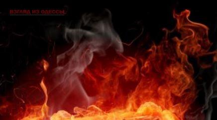 В одесской квартире тушили пожар
