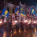 Переживший оккупацию Славянск отмечает день рождения Бандеры — кадры факельного шествия