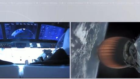 Историческое событие: корабль Crew Dragon успешно стартовал к орбите Земли, — первые кадры из космоса